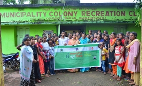 Participants/guests during the observation of International Youth day at slum level